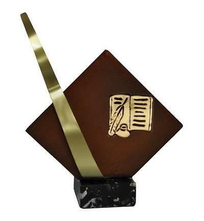 Trofeo Artesanal Laton Literatura