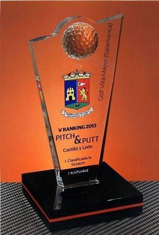 Trofeo Metacrilato Gemjek Golf Metacrilato