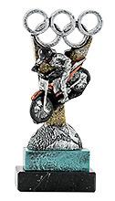 Trofeo Moto en resina.