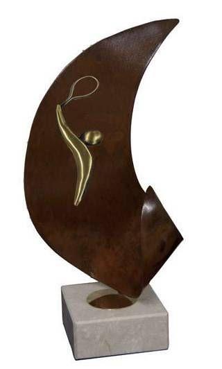 Trofeo Artesanal Laton Tenis