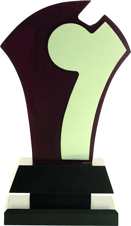 Trofeo Parla en madera personalizable
