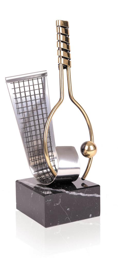 Trofeo Raqueta y Red de laton