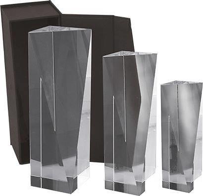 Trofeo Taco Cristal Optico de 3 caras