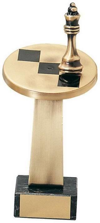 Trofeo ajedrez acero