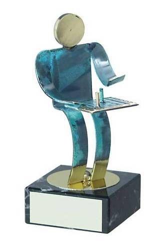 Trofeo ajedrez jugador latón