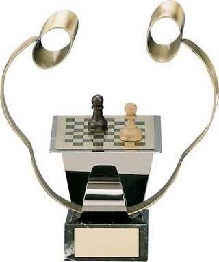 Trofeo ajedrez jugadores