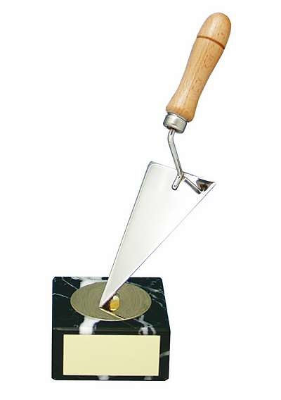 Trofeo albañil paleta