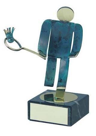 Trofeo bádminton artesanal