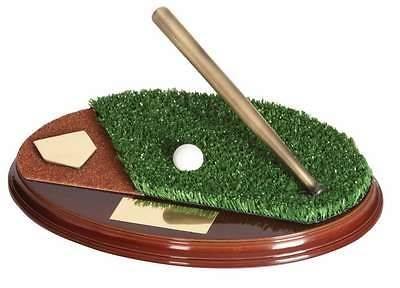 Trofeo béisbol bate y pelota