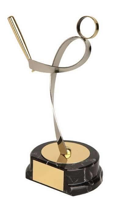 Trofeo béisbol jugador dorado y plateado