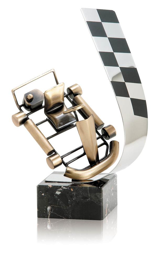 Trofeo bandera de karts