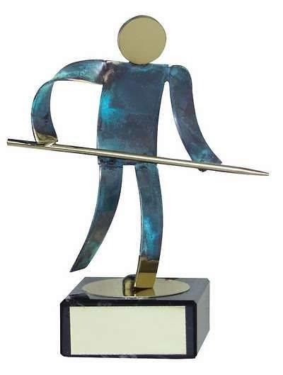 Trofeo billar jugador latón