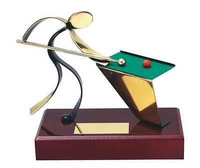 Trofeo billar peana madera