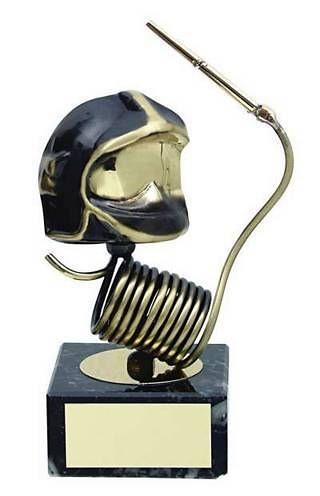 Trofeo bombero manguera y casco