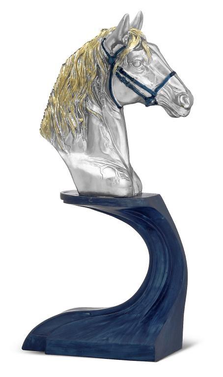 Trofeo cabeza de caballo en resina decorada hip