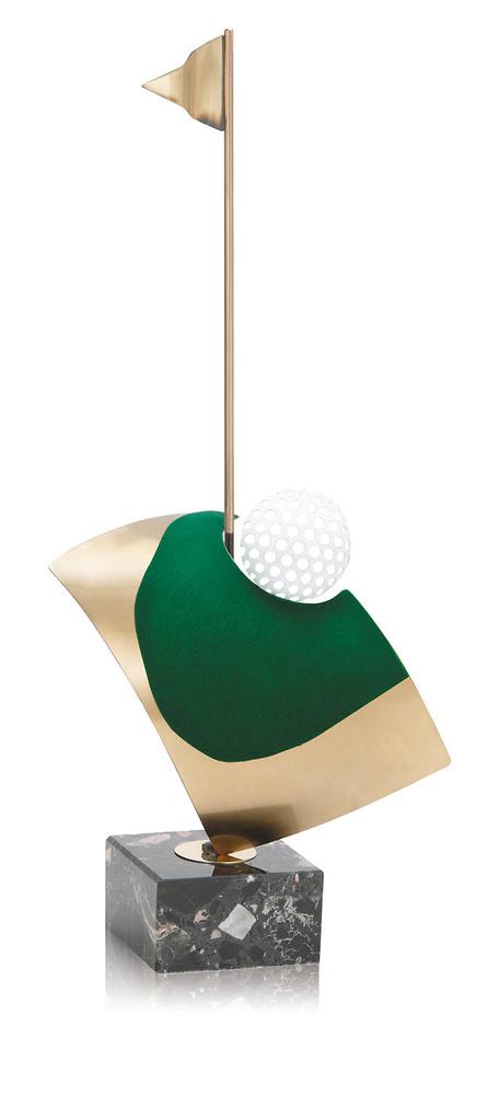 Trofeo campo latón de golf