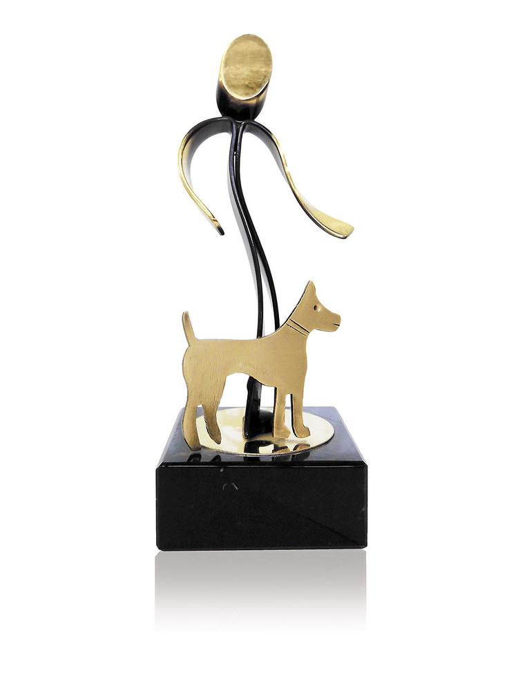 Trofeo canino de latón