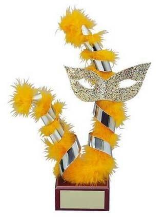 Trofeo carnaval pluma naranja