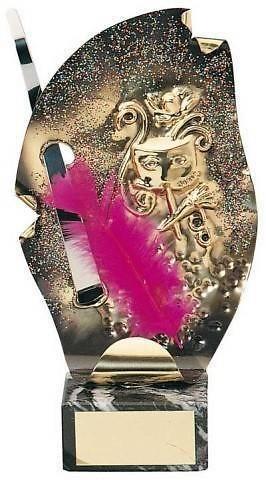 Trofeo carnaval pluma rosa