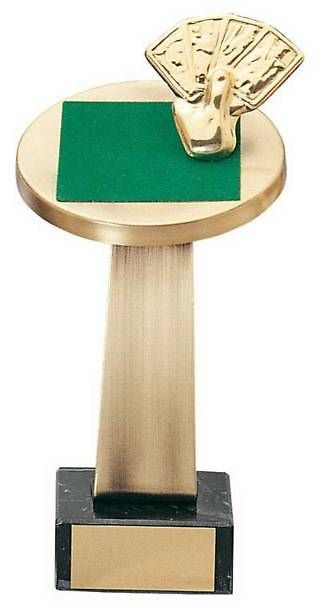 Trofeo cartas en latón