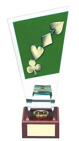 Trofeo cartas figuras póker