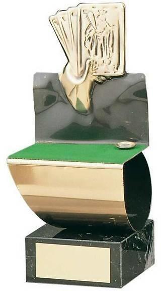 Trofeo cartas hecho a mano