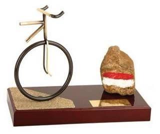 Trofeo ciclismo mountain peana madera