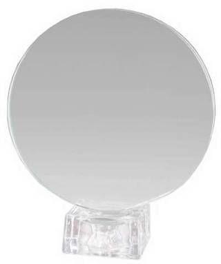 Trofeo circular con peana de cristal