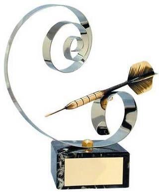 Trofeo dardos dardo dorado