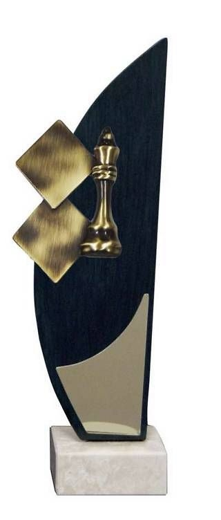 Trofeo Artesanal Laton Ajedez