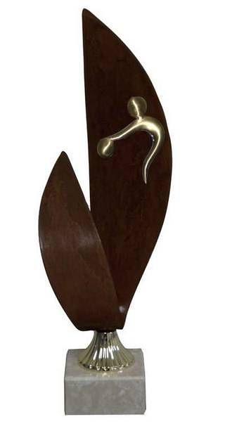 Trofeo Artesanal Laton Bolos