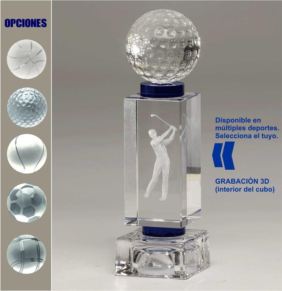Trofeo de Cristal rectangular Magro