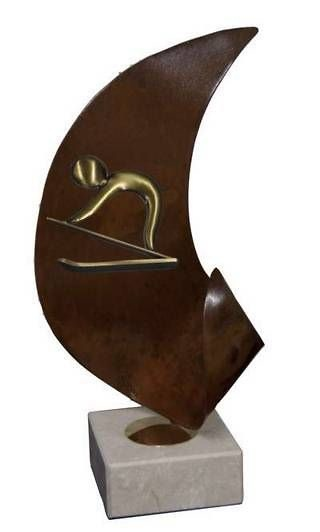 Trofeo Artesanal Laton Esqui