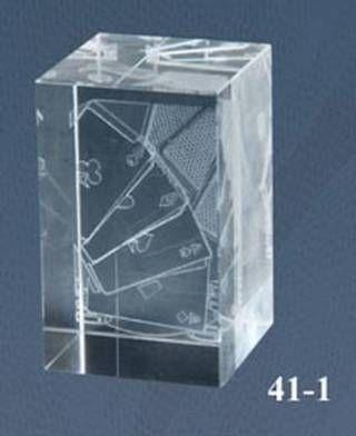 Trofeo de Poker Lozoya Cubo de cristal