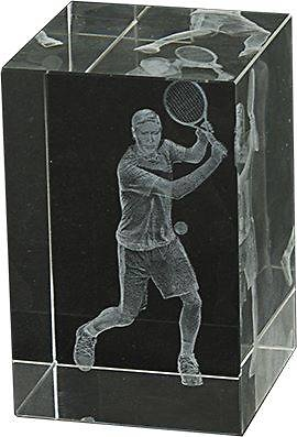 Trofeo de Tenis Lozoya Cubo de Cristal