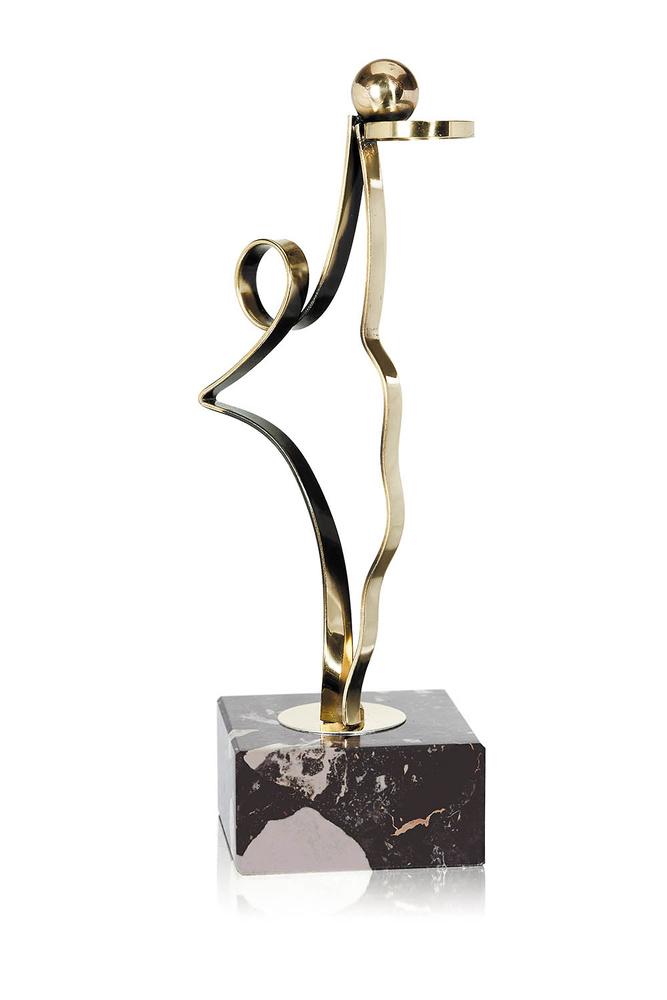Trofeo de baloncesto modelo latón