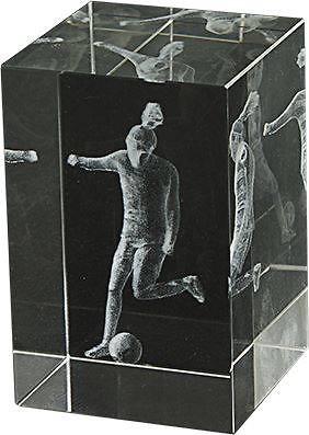 Trofeo de cristal grabacion 3D Lozoya de Futbol