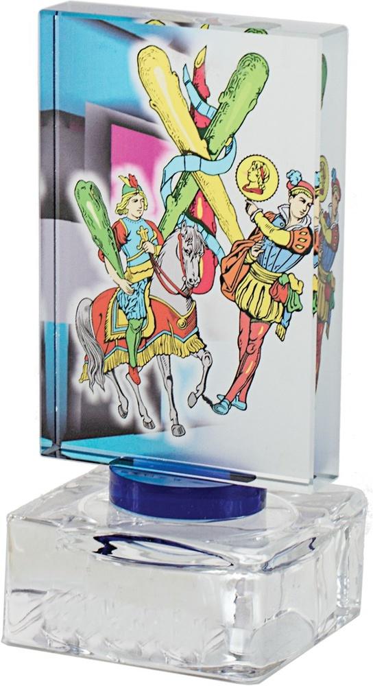 Trofeo de cristal válido para múltiples deportes