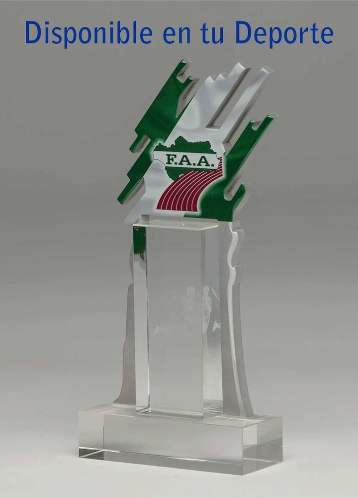 Trofeo de cristal. Modelo arteaga