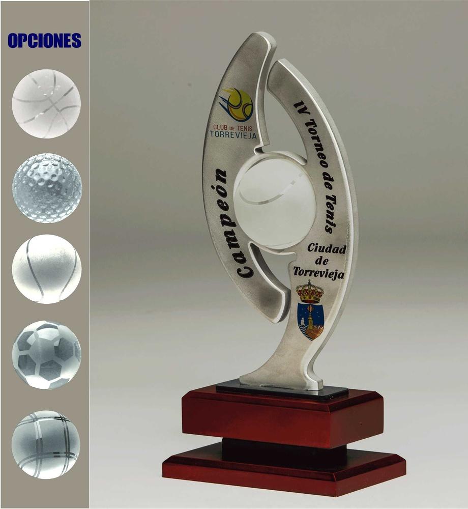 Trofeo de cristal. Modelo ocotlan