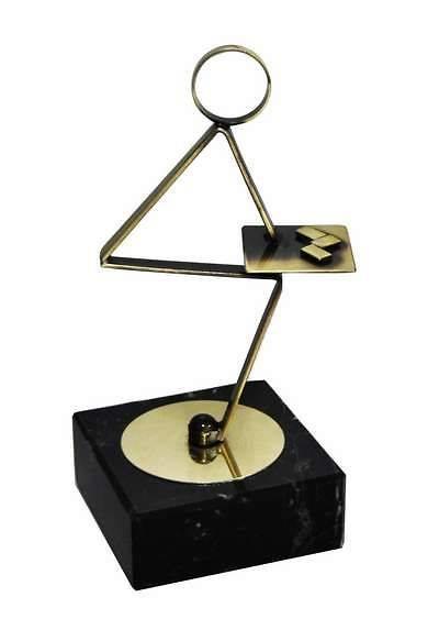 Trofeo Artesanal Laton Domino. Jugador de domino