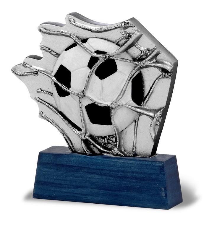 Trofeo de futbol con Red de porteria
