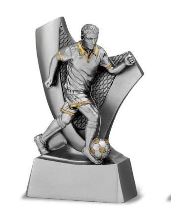 Trofeo de futbol modelo plata