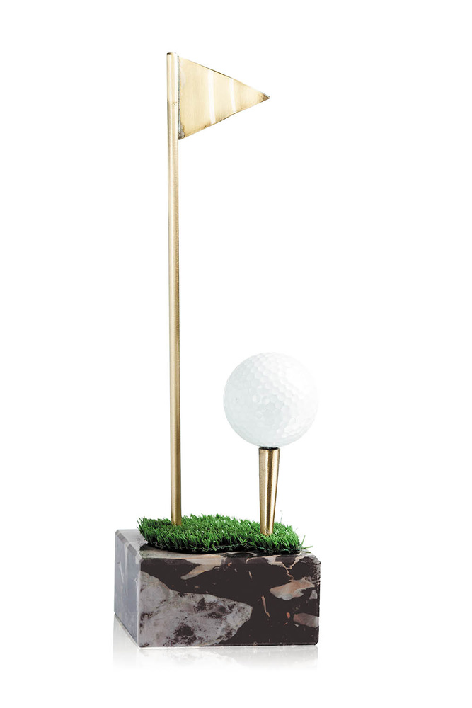 Trofeo de golf latón