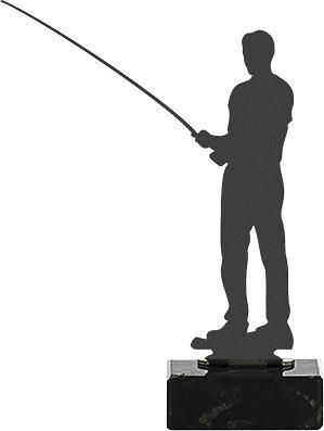 Trofeo de metal para pesca modelo prestige
