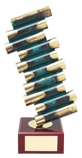 Trofeo diseño tubos diagonales