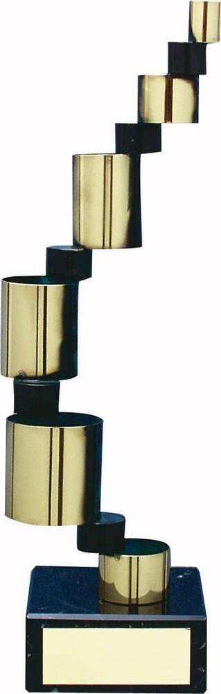Trofeo diseño tubos pequeños