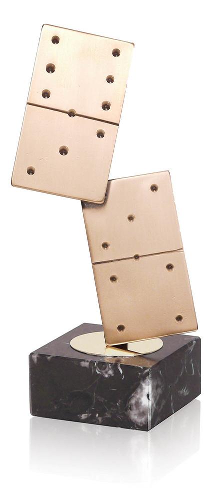 Trofeo domino de laton