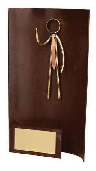 Trofeo ejecutivo rectangular
