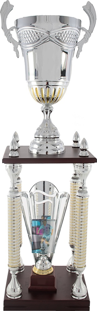Trofeo en columnas para aplique deportivo. Modelo bartolome